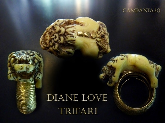 "AR5 - ANELLO TRIFARI DIANE LOVE ""CHINESE FOO DOG"" - LE COLLEZIONI  DI CAMPANIA30"
